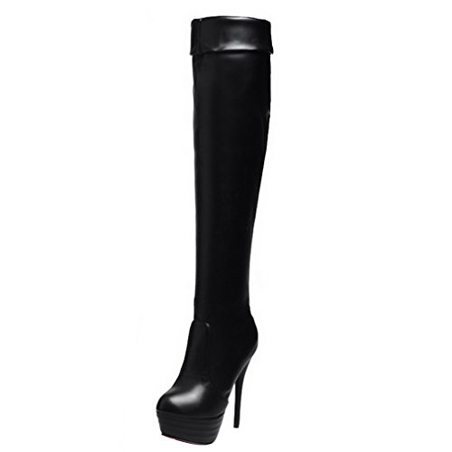 ye damen overknee stiefel high heels plateau stiletto boots mit rote sohle winter wasserdicht. Black Bedroom Furniture Sets. Home Design Ideas